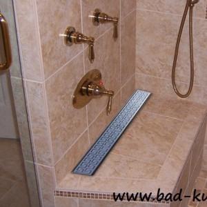 luxus duschrinne bodenablauf flach double maze