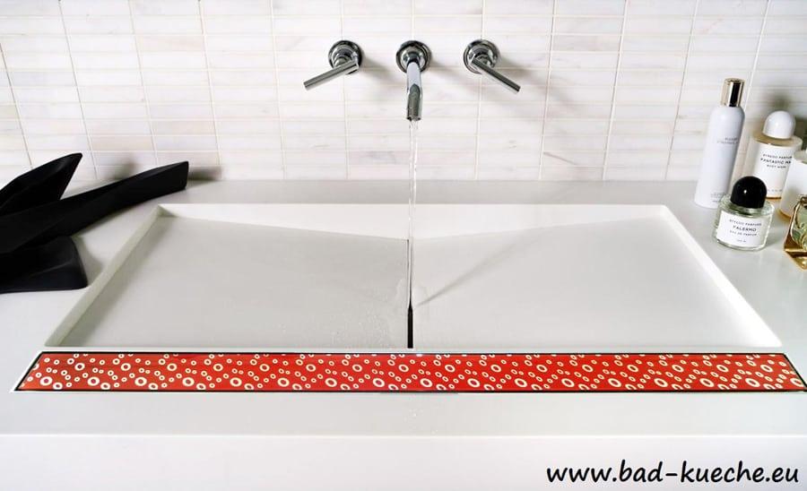 classic duschrinne bodenablauf aus edelstahl red glass rgc11 online shop bad und k che. Black Bedroom Furniture Sets. Home Design Ideas