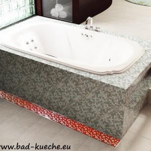 Luxus Duschrinne Bodenablauf aus Edelstahl - Red Glas-3