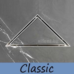 duschrinne dreieck aus edelstahl flach befliesbar 11