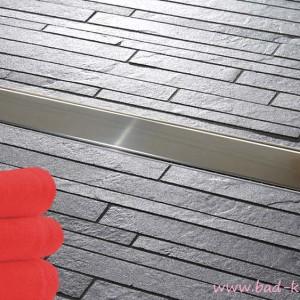 luxus wandablauf f r dusche duschrinne f r wandeinbau aus edelstahl steel wl05 online shop. Black Bedroom Furniture Sets. Home Design Ideas